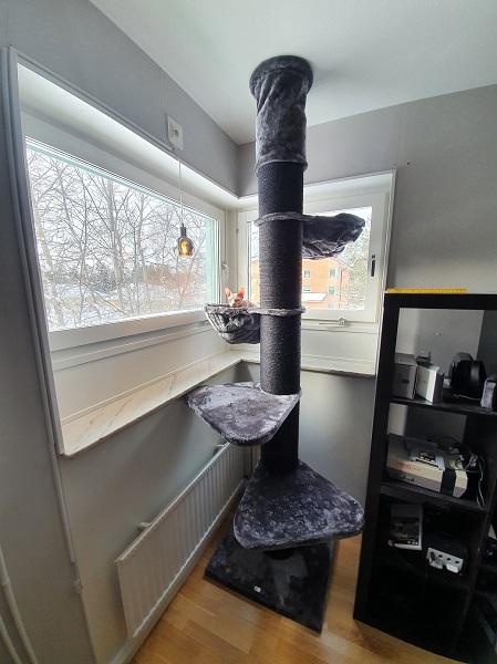 Klösträdet Klösträdet Maine Coon Pelare antracitgrå-svart